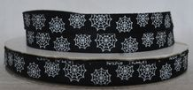 10mm SPIDER / COW- WEB GROSGRAIN RIBBON